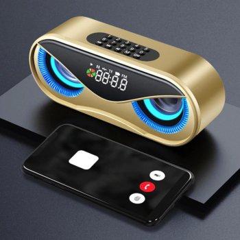 Бездротова Bluetooth Колонка TopRoad M6 Золотий