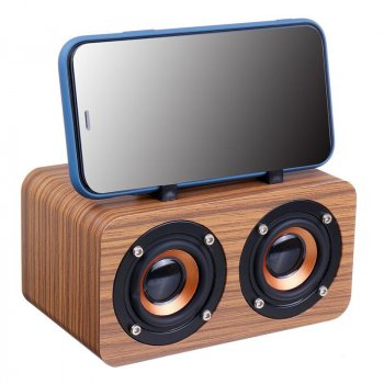 Беспроводная Bluetooth Колонка TopRoad Wooden Light Plus Светлое дерево