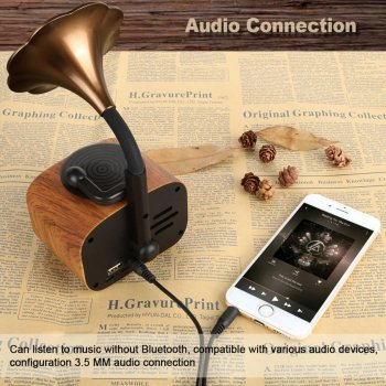 Беспроводная Bluetooth Колонка TopRoad B7 Ретро 5Вт
