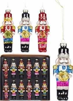 Набір ялинкових іграшок Christmas Decoration Лускунчик 12 шт. (ABR521510)