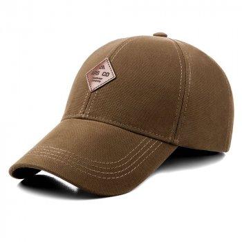Бейсболка мужская котоновая кепка с регулировкой ATRICS IBK202 M / 55-56 RU Светло-коричневая