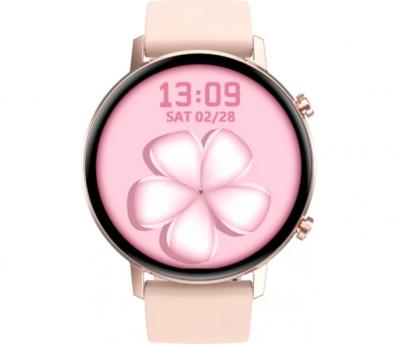 Смарт годинник SENOIX Ringo PRO-9S Pink (Рожевий) круглий екран | функція ЕКГ