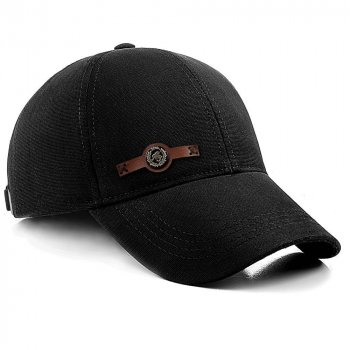 Бейсболка мужская котоновая кепка с регулировкой ATRICS IBK206 M / 55-56 RU Черная