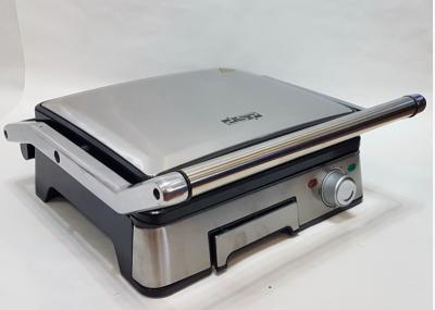 Гриль електричний DSP KB1045 професійний з функцією контролю температури [1800 ВТ] знімні панелі, Сріблястий