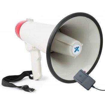 Громкоговоритель мегафон Kronos HW 20B рупор 30 Вт Бело-черный с красным (par_20)