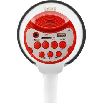 Ручний рупорний мегафон-гучномовець рупор виносний мікрофон UKC 25W ER-55U White-Red (par_er55u)