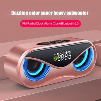 Беспроводная Bluetooth Колонка TopRoad M6 Розовое золото