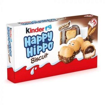 Печенье Kinder Happy Hippo с какао начинкой 105 г