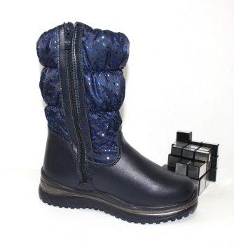 Сапоги для девочки Канарейка F6006-2 синий