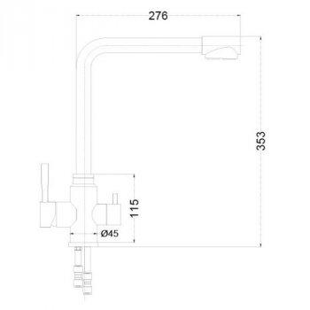 Кухонний змішувач з підключенням для осмосу VENTA VA2503