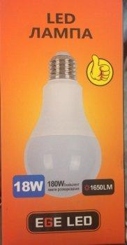 Упаковка світлодіодних ламп EGE LED 18W E27 4100 K 5штук