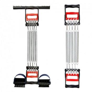 Пружинний еспандер для рук і ніг і грудей, тренажер еспандер багатофункціональний 3 в1 для всіх груп м'язів FS-37