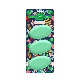 Мыло туалетное твердое Шик Зелёное яблоко планшет 3 шт х 110 г
