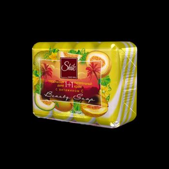 Мыло туалетное твердое Шик 1+1 Beauty с персидской дыней, витамином Е и питательным кремом 4 шт х 90 г