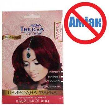 Фарба для волосся Triuga Махагон на основі хни 25 г