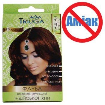 Фарба для волосся Triuga Каштан на основі хни 25 г