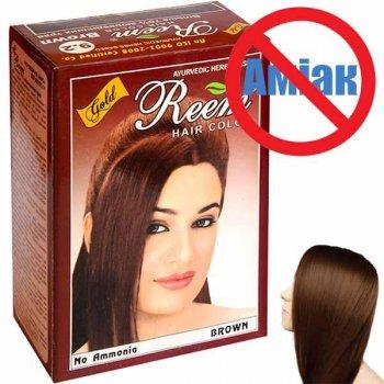 Фарба для волосся Reem Gold Коричнева на травах без аміаку 60 г