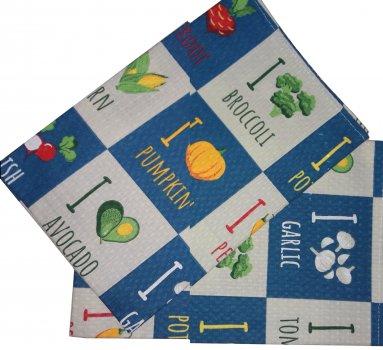 Вафельное полотенце Зоряне сяйво Овощи 45 х 60 см (911_овощи)