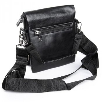 Мужская сумка через плечо из кожзама DR BOND GL 3051 black