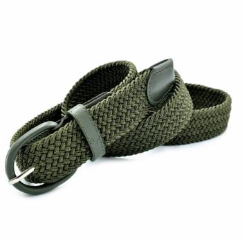 Зеленый текстильный ремень резинка Cintura un-35rez-0163