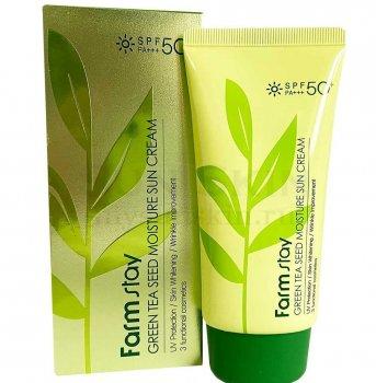 Увлажняющий солнцезащитный крем FarmStay Green Tea Seed Moisture Sun Cream SPF 50/PA+++ 70 мл