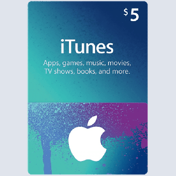Подарочная карта iTunes Apple / App Store Gift Card 5 usd, US-регион