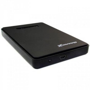 """Зовнішній кишеню Grand-X SATA HDD 2.5"""", USB 2.0, пластик (HDE22)"""