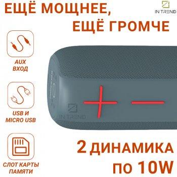 Портативна вологозахищена USB колонка Hopestar P15 Pro з Bluetooth - голосний звук і бас - Портативна акустична система + потужний гучномовець з вбудованим мікрофоном - карта пам'яті micro SD + TWS + FM-радіо, Синій