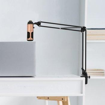 Студійний мікрофон Music D. J. M900U USB зі стійкою і поп-фільтром Bronze