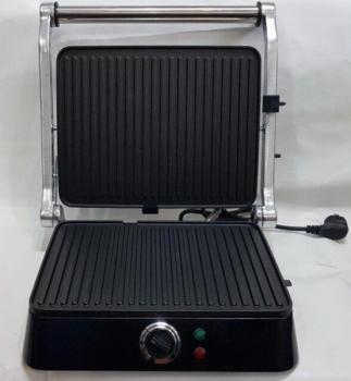 Гриль електричний контактний притискної з таймером DSP KB-1001 1400W Black/Silver