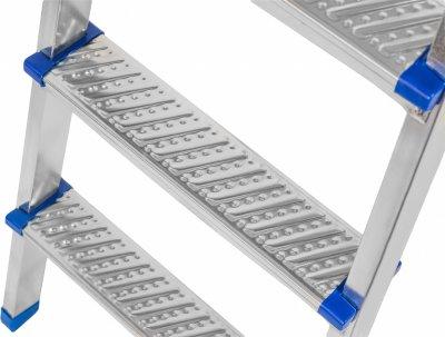 Лестница с 6 ступеней + лоток Kanat Elips EM-605 Blue/Silver