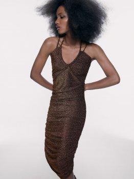 Плаття Zara 9874/005/735 Золоте