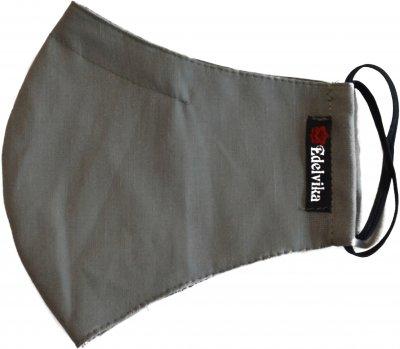 Маска защитная из конопли Edelvika с фиксацией на переносице и отделением для фильтра Размер M (390-20/00 оливковая) (2100000501984)