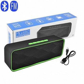 Bluetooth-колонка SC-211, c функцією speakerphone, радіо, green