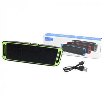 Bluetooth-колонка SC-208 c функцією speakerphone, радіо, green
