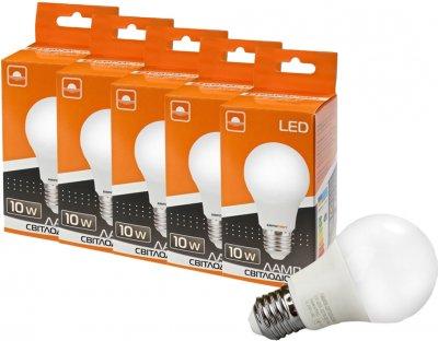 Набір світлодіодних ламп Евросвет 10 W 3000 K Е27 (56868) 5 шт.