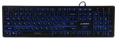 Клавиатура проводная Gembird KB-UML3-01-UA USB (EN/RU/UA) (8716309923491)