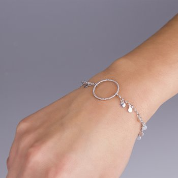 Жіночий браслет з підвісками срібло 16 cava.cool