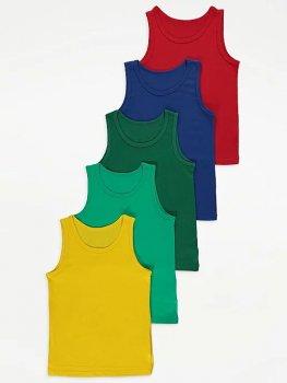 Майка (5 штук) для мальчика George G0040 Разноцветные (P-6910806230422)