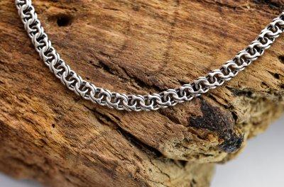 Мужской серебряный браслет Meridian 925 пробы Бисмарк классический в чернении 22,5 размер 24102/1225