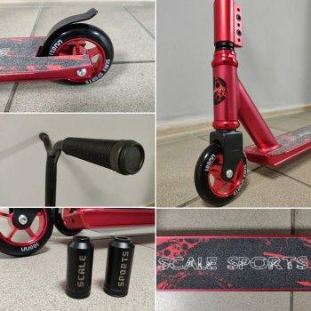 Трюковий самокат Scale Sports для трюків, червоний (ar.543-185)