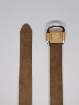 Женский кожаный ремень TIA бежевый A-1009 100см