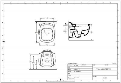 Унитаз подвесной EGE VITRIFIYE Sura 56303 с сиденьем Soft Close дюропласт