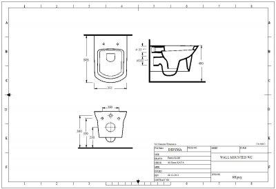 Унитаз подвесной EGE VITRIFIYE Didyma 68303 с сиденьем Soft Close дюропласт