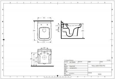 Унитаз-биде подвесной EGE VITRIFIYE Mythos 76303 с сиденьем Soft Close дюропласт