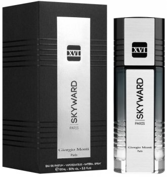 Парфюмированная вода для мужчин Giorgio Monti Skyward XVI Silver 100 мл (3282441671613)
