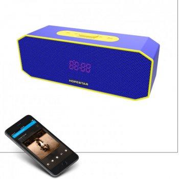 Портативна колонка Hopestar P8 з функцією PowerBank і гучномовця - Музична Bluetooth бездротова акустична система з вологозахисним корпусом і функцією УМБ + USB + AUX, Blue