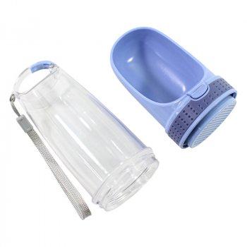 Поїлка-пляшка для котів і собак Taotaopets LS-210 Blue 28*8см портативна прогулянкова