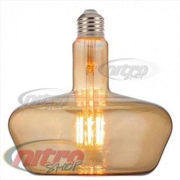 Лампа филаментная світлодіодна Horoz Electric Ginza-XL AMBER 8Вт (~64Вт) 220В Е27 Filament(001-050-0008)