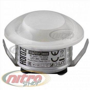 Світильник врізний світлодіодний LED Horoz Electric RITA 3Вт (~24Вт) 220В 4200K Круглий Білий (016-037-0003)